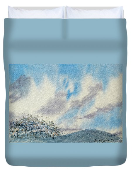 The Blue Hills Of Summer Duvet Cover