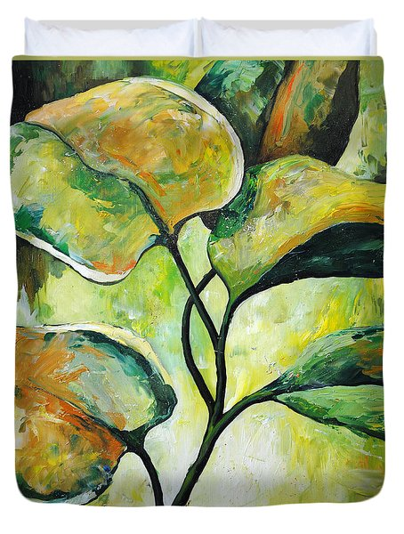 Leaves2 Duvet Cover by Chris Steinken