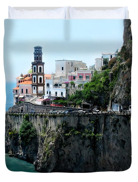 Leaving Atrani  Italy Duvet Cover