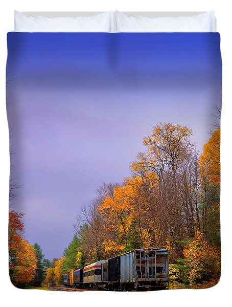 Leaving Fall Behind Duvet Cover