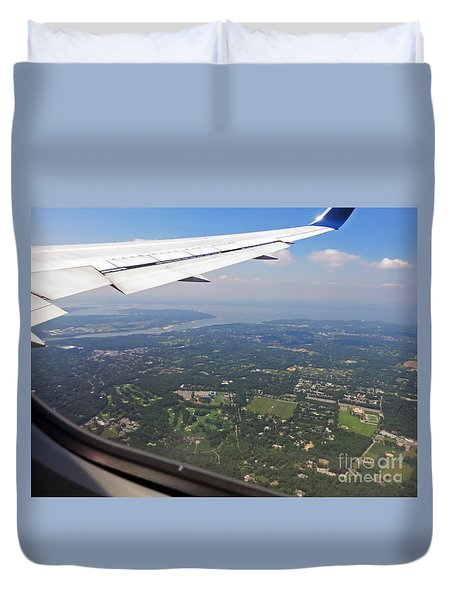 Leaving New York Duvet Cover by Cindy Murphy - NightVisions