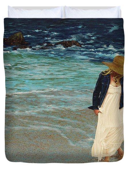 Leaving The Beach Duvet Cover