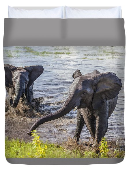 Leaving The River Duvet Cover
