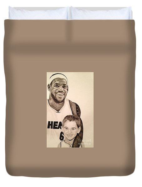 Lebron And Carter Duvet Cover by Tamir Barkan