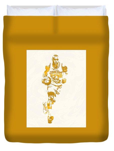 Lebron James Cleveland Cavaliers Pixel Art 11 Duvet Cover