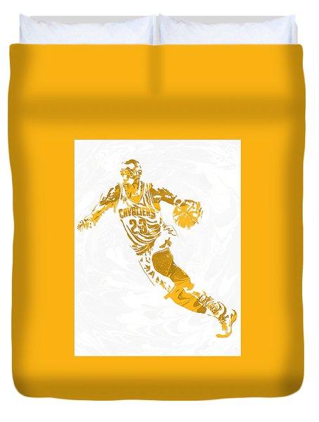Lebron James Cleveland Cavaliers Pixel Art 15 Duvet Cover