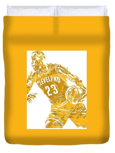 Lebron James Cleveland Cavaliers Pixel Art 20 Duvet Cover