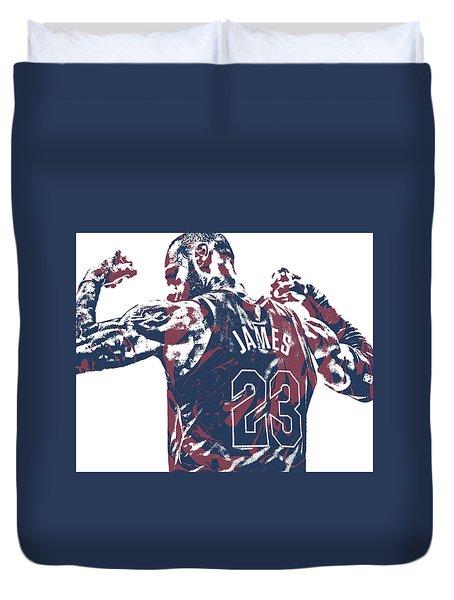 Lebron James Cleveland Cavaliers Pixel Art 53 Duvet Cover