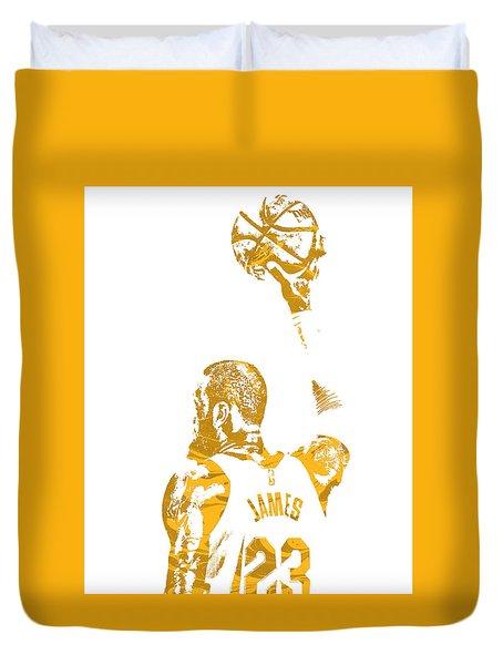 Lebron James Cleveland Cavaliers Pixel Art 71 Duvet Cover