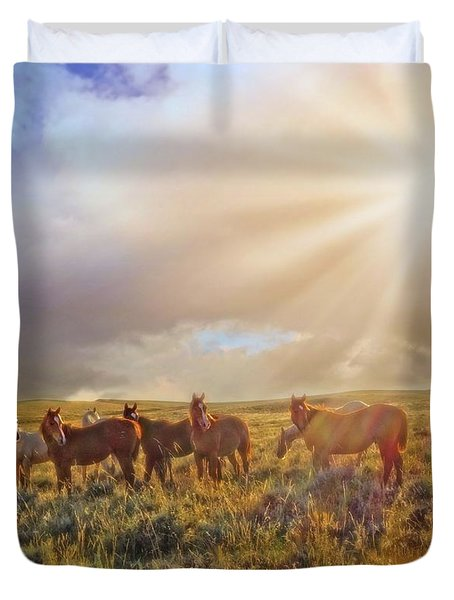 Led By The Light Duvet Cover