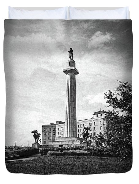Lee Circle New Orleans Duvet Cover