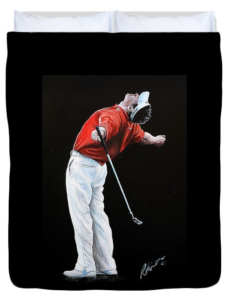 Lee Westwood Duvet Cover by Mark Robinson