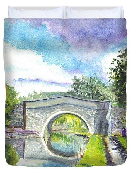 Leeds Canal Liverpool Duvet Cover by Carol Wisniewski