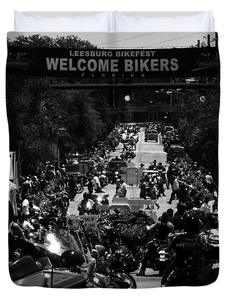 Leesburg Florida 2012 Bikefest Work C Duvet Cover by David Lee Thompson