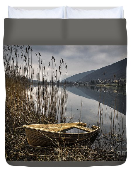 Duvet Cover featuring the photograph Left Alone by Yuri Santin