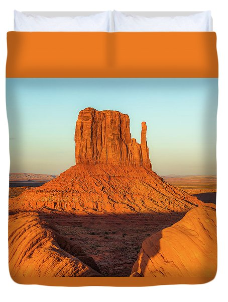 Left Mitten Sunset - Monument Valley Duvet Cover