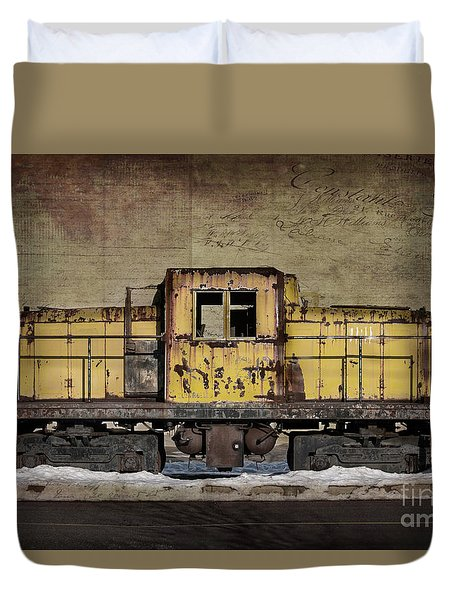 Left To Rust Duvet Cover by Judy Wolinsky