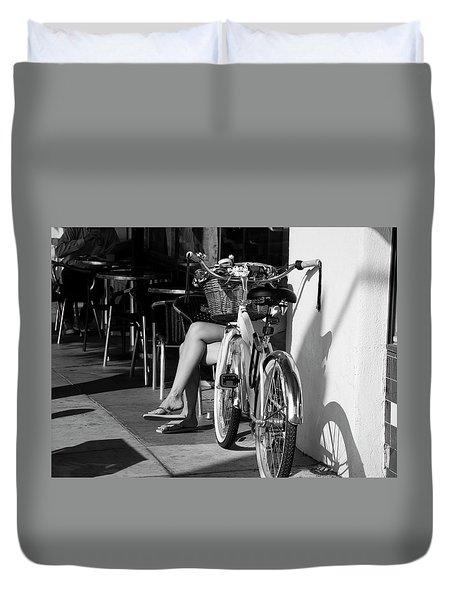 Leg Power - B And W Duvet Cover