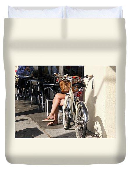 Leg Power - On Montana Avenue Duvet Cover