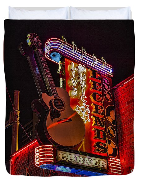 Legends Corner Nashville Duvet Cover by Stephen Stookey