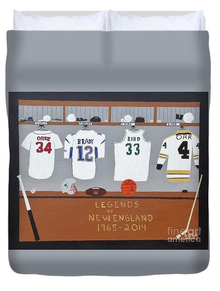 Legends Of New England Duvet Cover