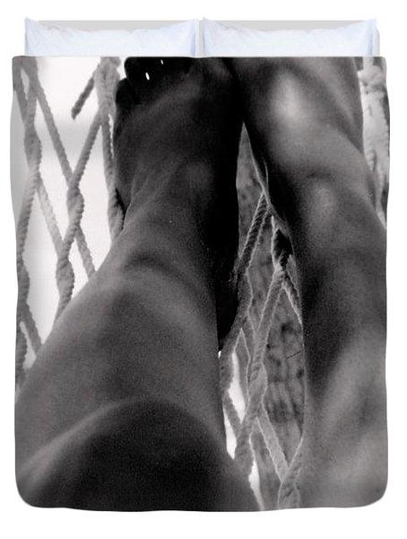 Legs Duvet Cover by Deborah  Crew-Johnson