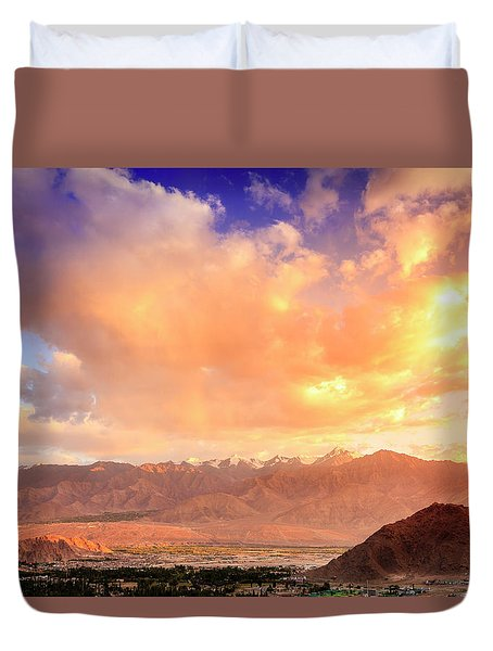 Duvet Cover featuring the photograph Leh, Ladakh by Alexey Stiop
