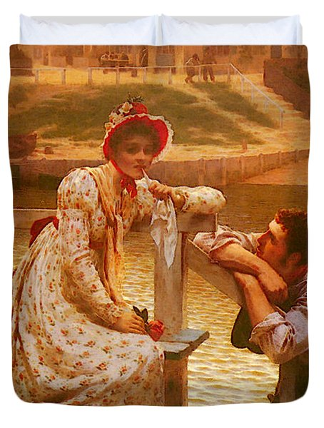 Leighton Edmund Blair Courtship Duvet Cover