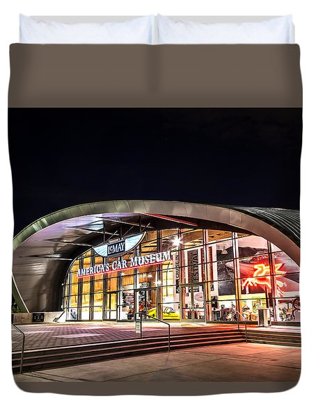 Duvet Cover featuring the photograph Lemay Car Museum - Night 1 by Rob Green