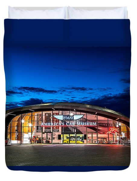 Duvet Cover featuring the photograph Lemay Car Museum - Night 2 by Rob Green