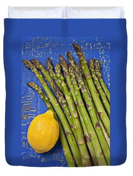 Lemon And Asparagus  Duvet Cover by Garry Gay