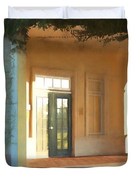 Lemon Arches Tangerine Walls Duvet Cover