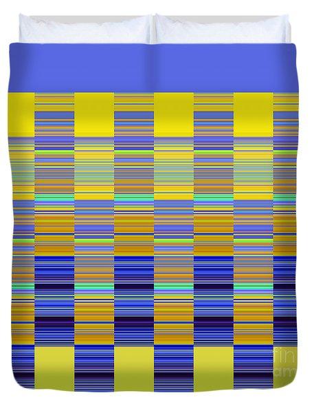 Duvet Cover featuring the digital art Lemon Blue Mirage by Ann Johndro-Collins