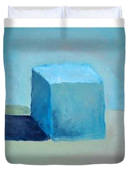 Lemon Cube Sphere Duvet Cover