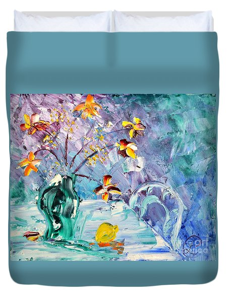 Lemon For Tea Duvet Cover