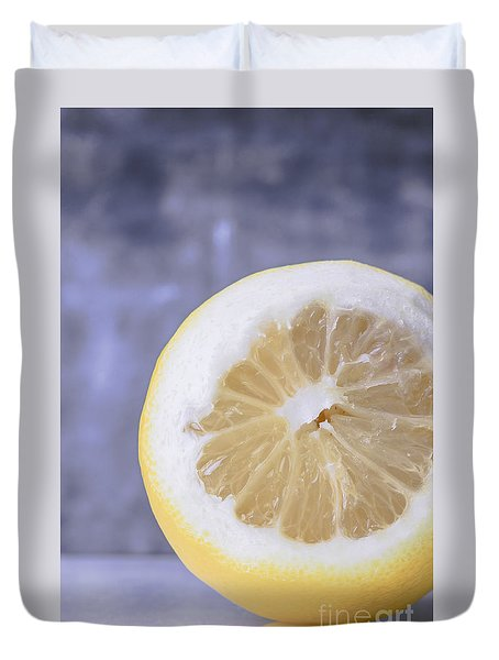 Lemon Half Duvet Cover by Edward Fielding