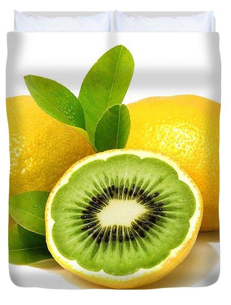 Lemon Kiwi Duvet Cover