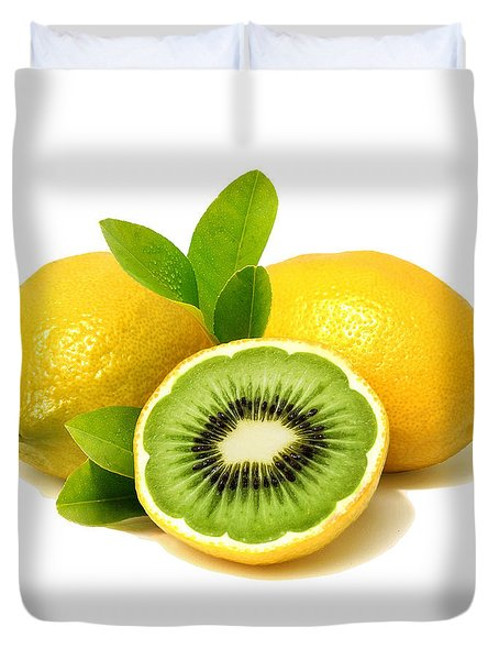 Lemon Kiwi Duvet Cover