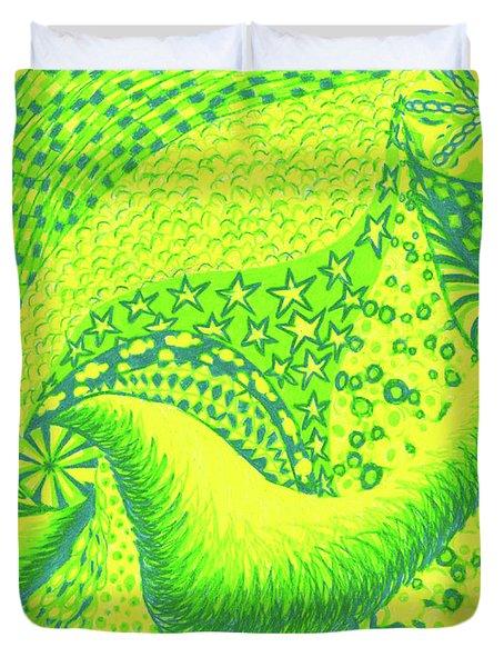 Lemon Lime Duvet Cover