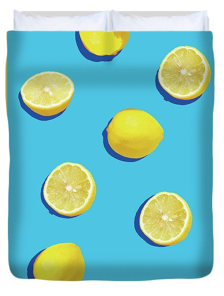 Lemon Pattern Duvet Cover by Rafael Farias