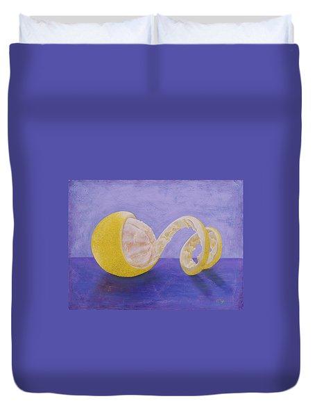 Lemon Peel Twist Duvet Cover