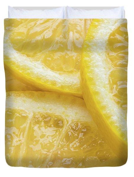 Lemon Slices Number 3 Duvet Cover