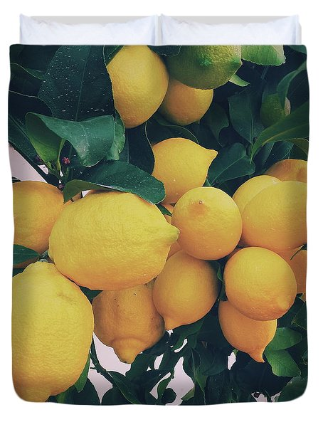 Lemon Tree Duvet Cover by Happy Home Artistry