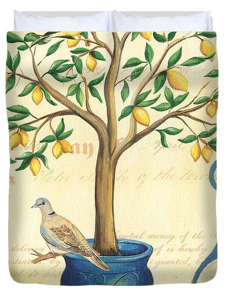 Lemon Tree Of Life Duvet Cover by Debbie DeWitt