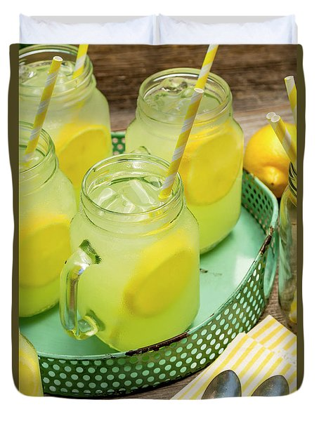 Lemonade In Blue Tray Duvet Cover