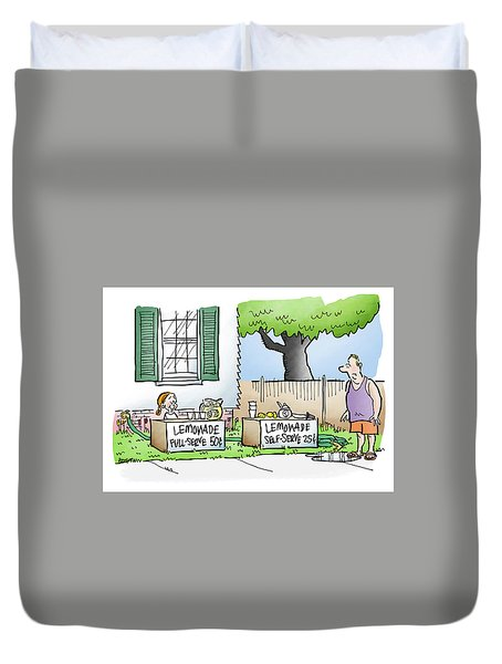 Lemonade Stand Duvet Cover
