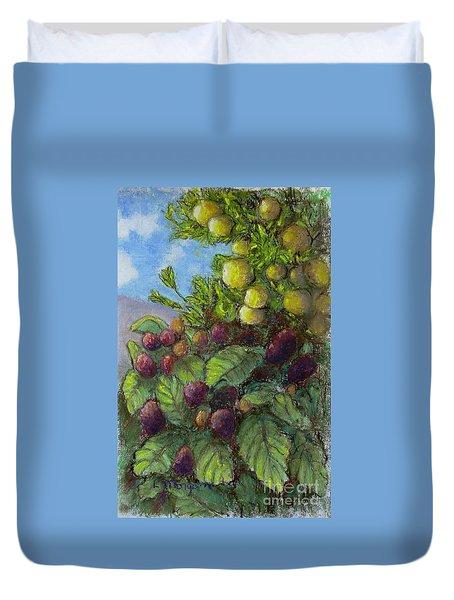 Lemons And Berries Duvet Cover