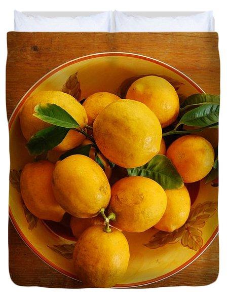Lemons In Bowl Duvet Cover