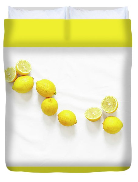 Lemons Duvet Cover by Lauren Mancke