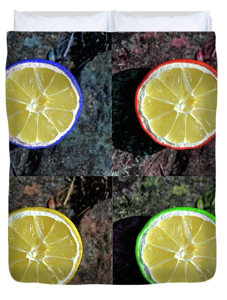 Lemons Duvet Cover by Rob Hawkins